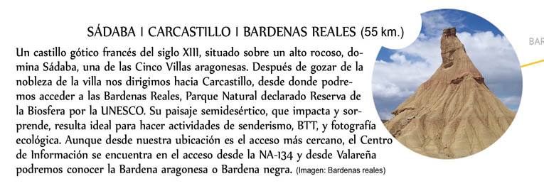Sádaba, Carcastillo, Bardenas reales