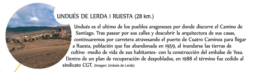 Undués de Lerda, Ruesta