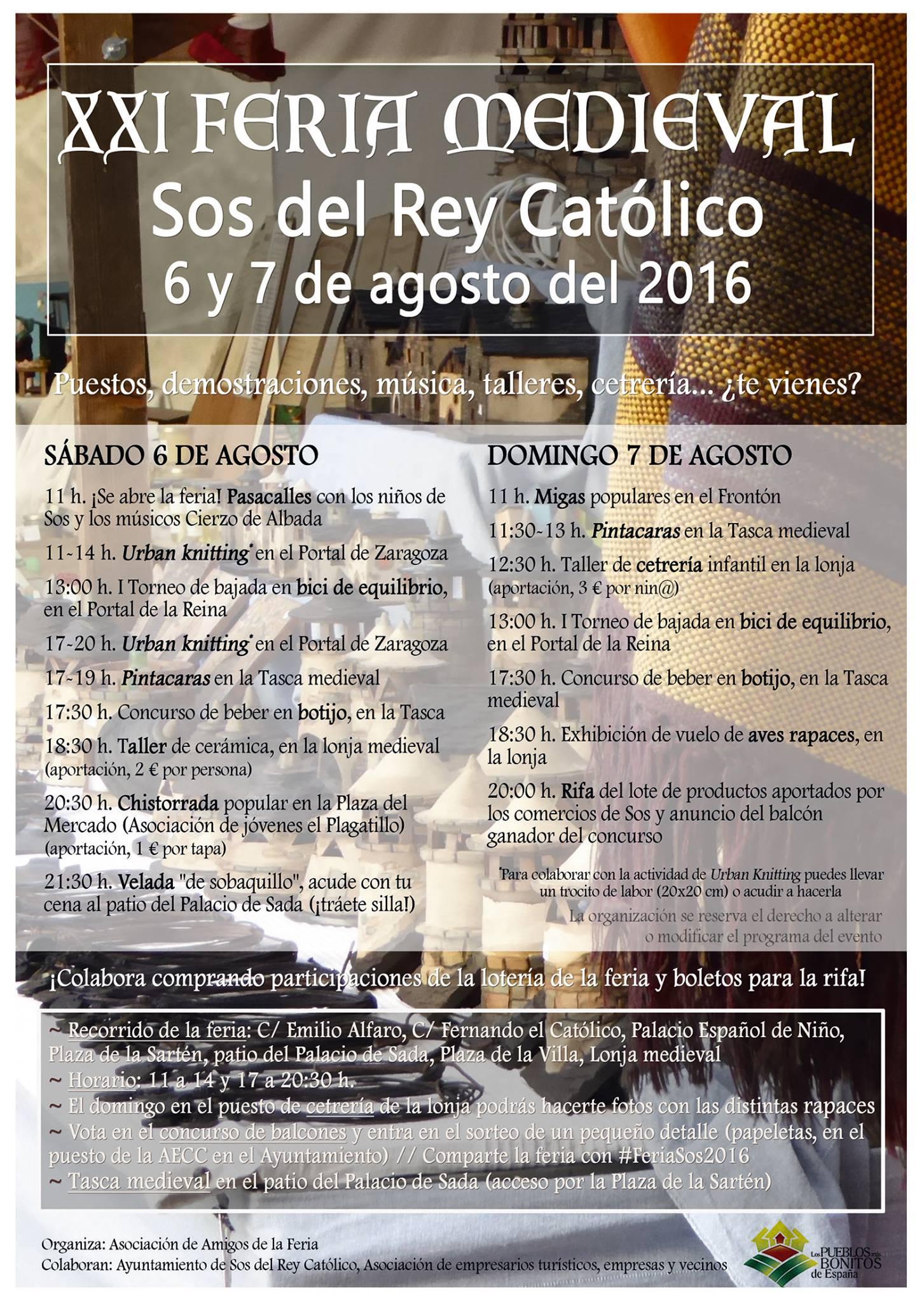 Feria Medieval 2016 en Sos del Rey Católico